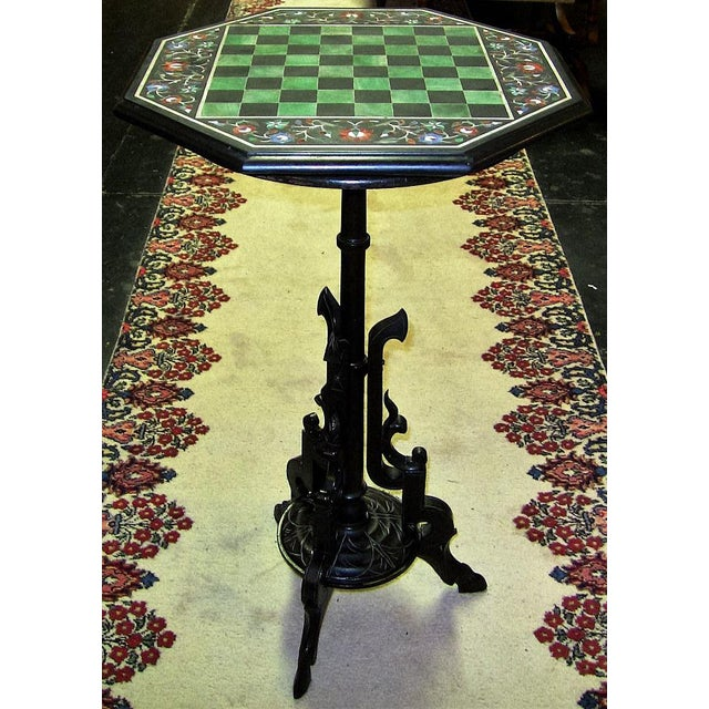 Pietra Dura Chess Board Marble Table - Image 8 of 9