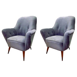 Vintage Mid Century Italian Club Chairs - a Pair For Sale