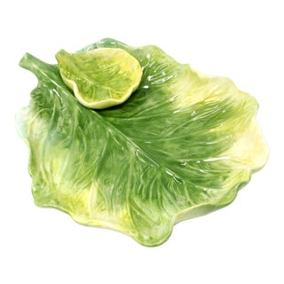Bibb Lettuce Chip and Dip Plate