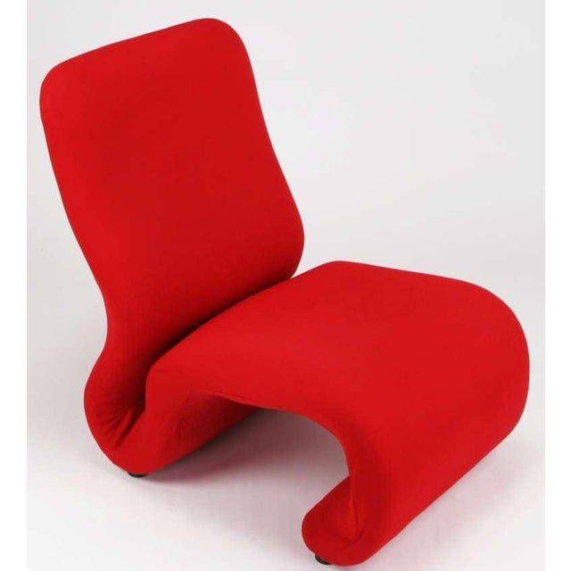 Swedish Modern Red Wool Ribbon Chair For Sale - Image 4 of 9