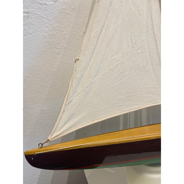 Traditional Mid 20th Century Model Sailbaot For Sale - Image 3 of 8