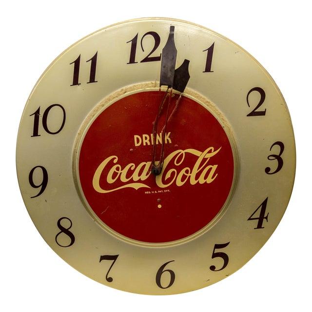 Vintage 'Drink Coca-Cola' Clock For Sale