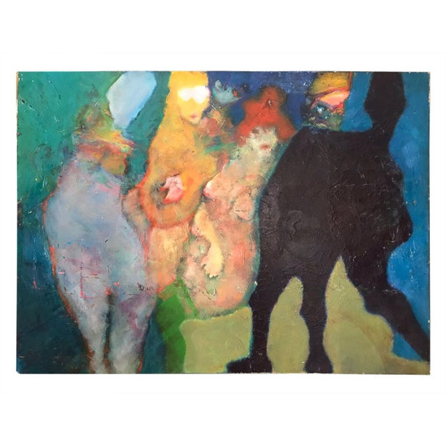 Martin Sumers Figurative Painting, 1970s For Sale In Atlanta - Image 6 of 6