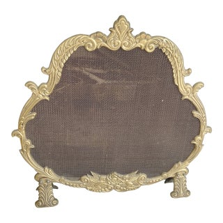 Antique Baroque Fireplace Screen For Sale