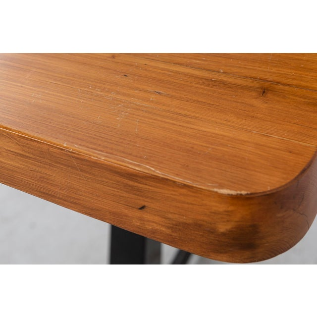 Les Arcs Adjustable Square Table by Charlotte Perriand For Sale In Chicago - Image 6 of 11