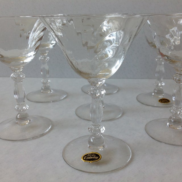Cambridge Optic Crystal Cocktail Stemware For Sale - Image 11 of 11