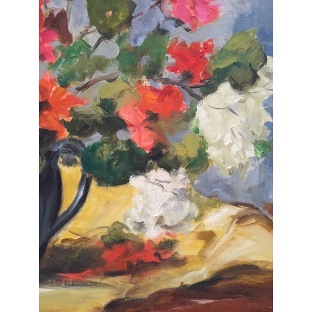 1950s Clifford Holmes Floral Still Life For Sale In New York - Image 6 of 10