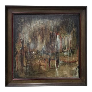 """Winifred Lucy Shaffer """"Marsh Lights"""" Original Oil Painting For Sale"""