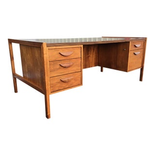 Mid-Century Modern Jens Risom Walnut Executive Desk For Sale