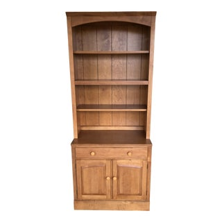 Ethan Allen Country Colors 2 Piece Bookcase and Base Cabinet (Finish 214) For Sale