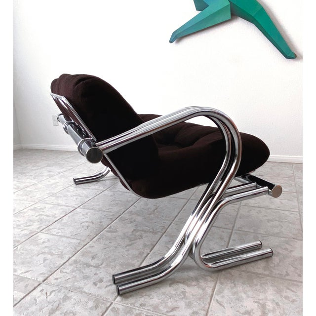 Mid Century Modern Jerry Johnson Chrome Loveseat For Sale - Image 9 of 13