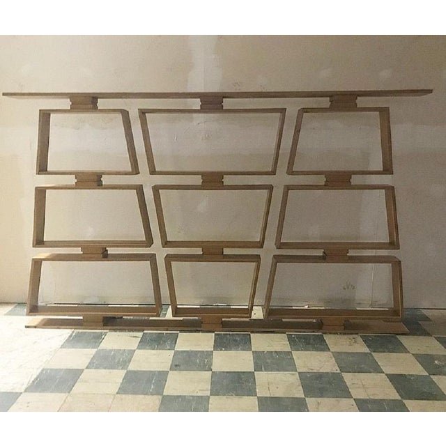 Mid-Century Modern Mid-Century Wood Room Divider / Shelves For Sale - Image 3 of 5