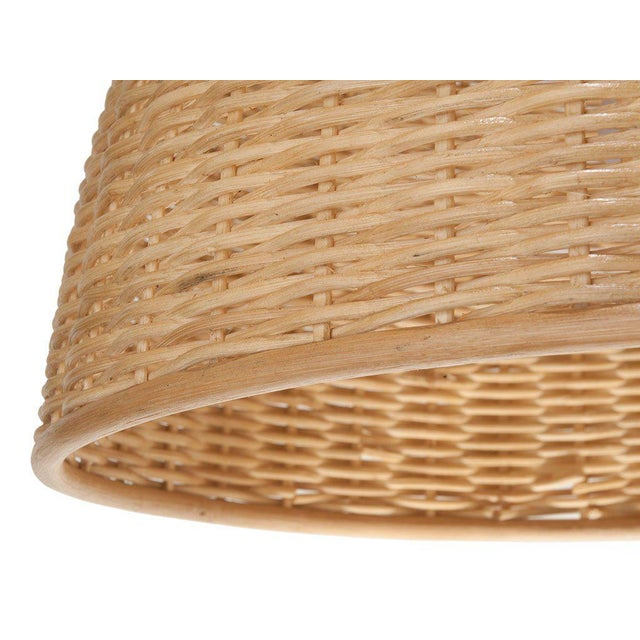 This is a great looking rattan bell shaped natural colored wicker lantern. It really has a classic and natural look and...