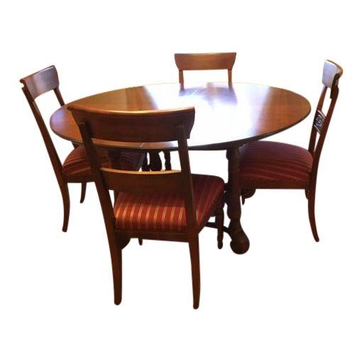 Ethan Allen Dining Room Sets For Sale: Ethan Allen Solid Wood Dining Room Set With Leaf