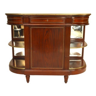 French Louis XVI Mahogany Server Cabinet For Sale