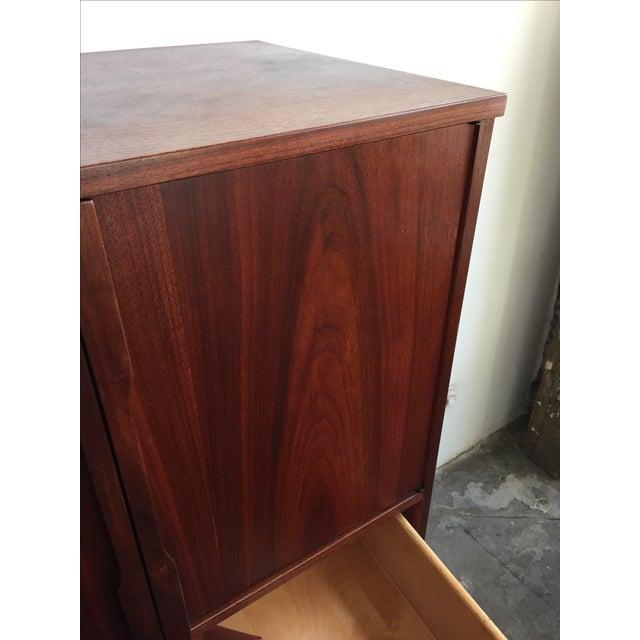 Mid Century Walnut Wood Tallboy Dresser - Image 5 of 11