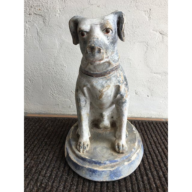 Vintage Mid Century Dog Statue For Sale In Los Angeles - Image 6 of 10