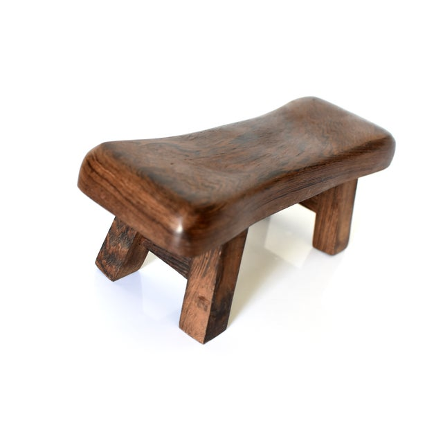 Rosewood Chinese Rosewood Mini Stools, Hand Rests - a Pair For Sale - Image 7 of 13