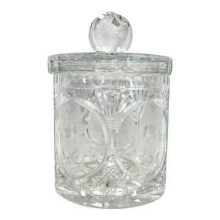 1930s Crystal Apothecary Jar For Sale
