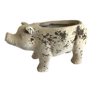 Shabby Chic Rustic Piggy Planter
