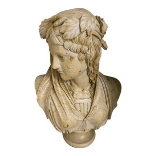 Roman/Greek Style Marble Solid Bust For Sale