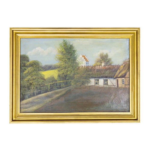 Swedish Landscape Oil on Canvas, C. 1900 For Sale - Image 9 of 10