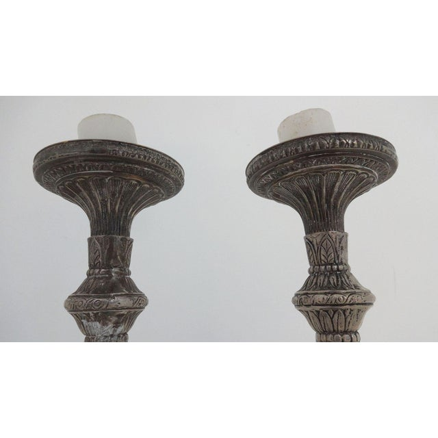 Tall Silverplate Candlesticks - A Pair - Image 6 of 8