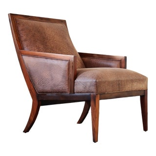 Modern Costantini Belgrano Rosewood and Leather Lounge Chair For Sale