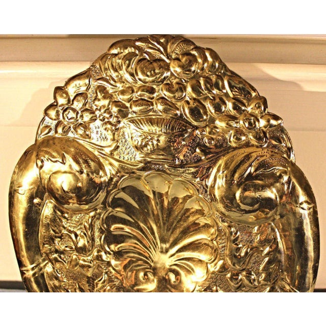 Mottahedeh Double Baroque Repousse Brass Wall Sconces - A Pair For Sale - Image 5 of 9