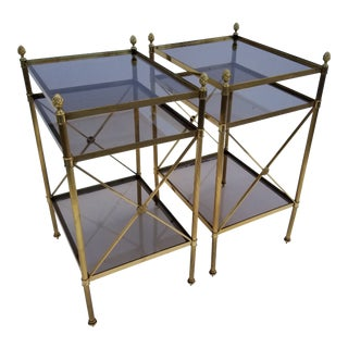 1950s Maison Bagues Side Tables - a Pair For Sale