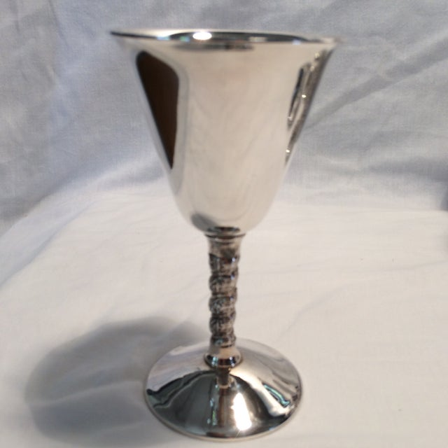 12 Vintage Silver Plated Rogers Rope Twist Wine Goblet made in Yugoslavia - Image 3 of 11