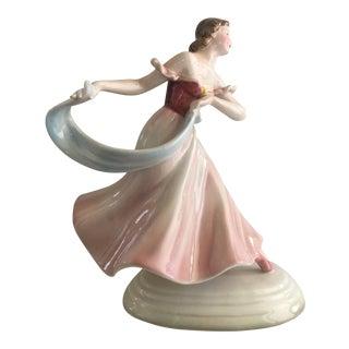 Daken Austrian Keramos Porcelain Dancer Statue For Sale