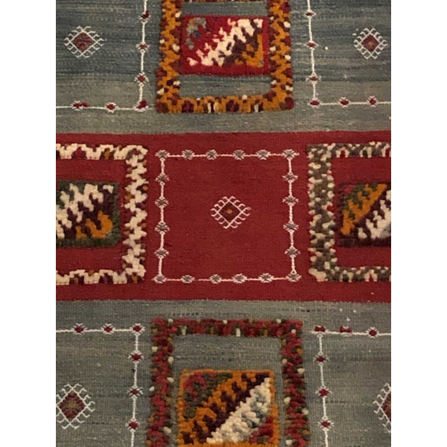 """Tribal Berber Abstract and Geometric Rug-3'x6'2"""" For Sale - Image 3 of 6"""