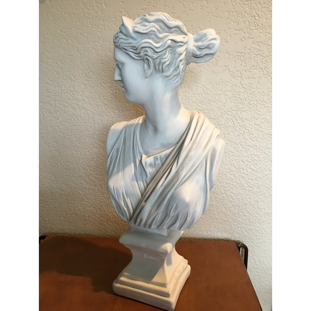 1980s Diana Goddess of the Hunt Large Scale Bust Sculpture For Sale In Seattle - Image 6 of 10