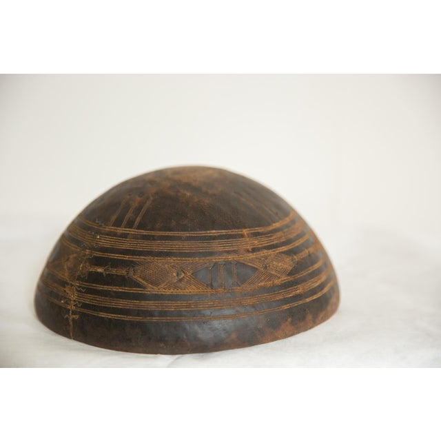African Vintage Wooden African Bowl For Sale - Image 3 of 5