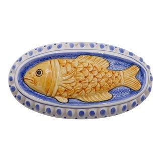 1970s Italian Ceramic Fish Mold For Sale