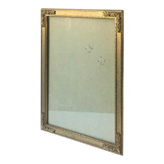 Vintage Art Nouveau Style Etched Brass Picture Frame For Sale