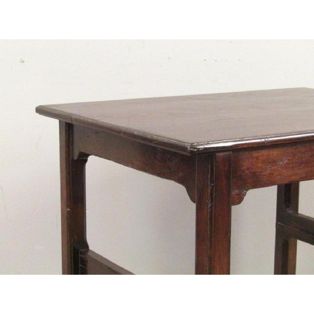 Rose Tarlow Chippendale Rose Tarlow Dark Walnut Table With Pullout Library Steps For Sale - Image 4 of 7