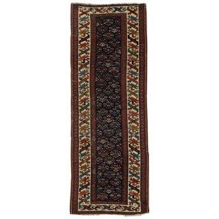 19th Century Persian Kazak Tribal Hallway Runner - 3′4″ × 8′10″ For Sale