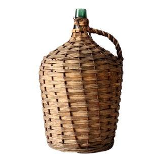 Antique Wicker Demijohn