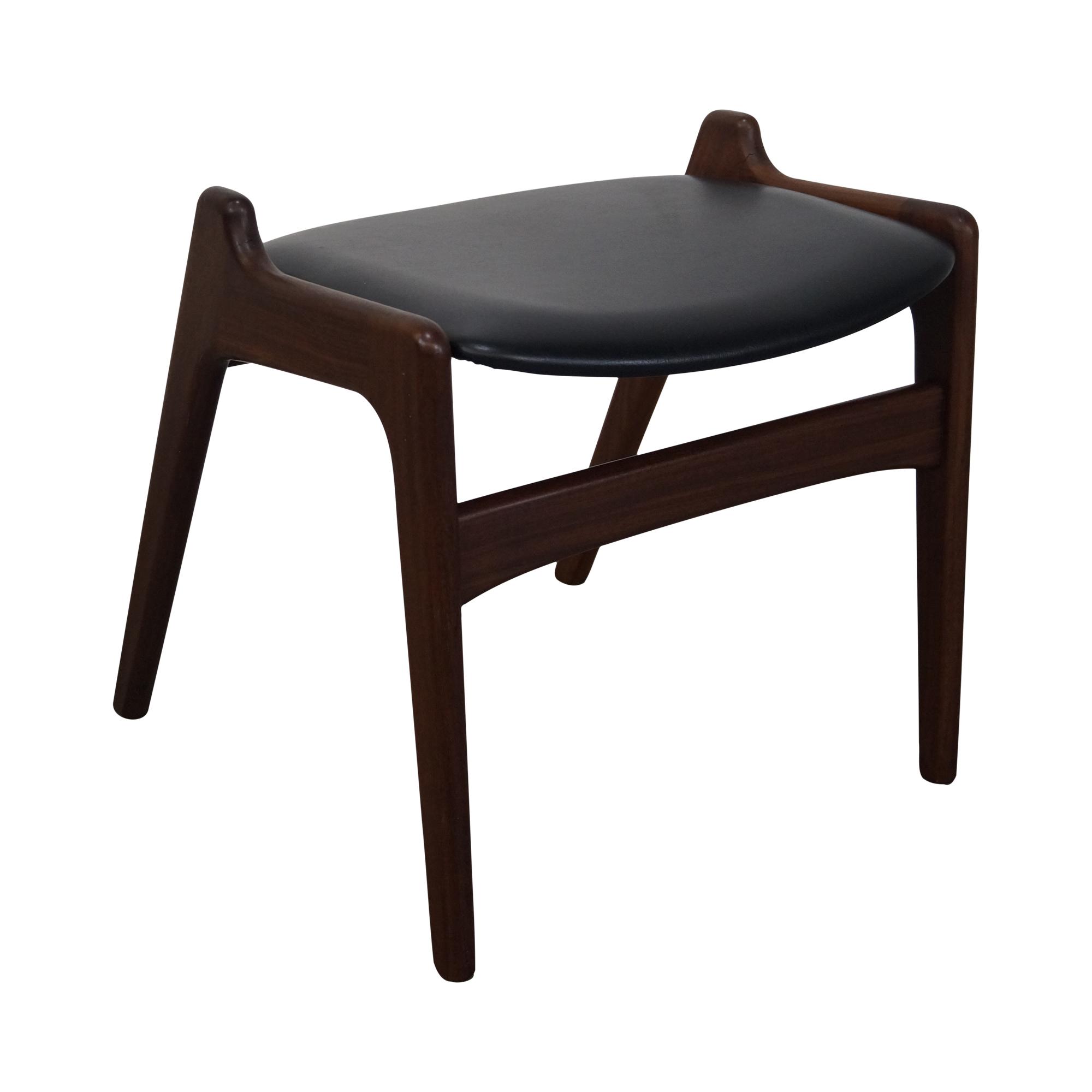 Danish Modern Teak Ottoman Bench Backless Chair For Sale  sc 1 st  Chairish & Danish Modern Teak Ottoman Bench Backless Chair | Chairish
