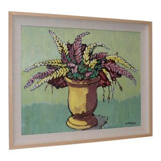 """Jacques Loiseau (French, B.1920) """"Jarre Aux Lupins"""" Original Oil on Canvas For Sale"""