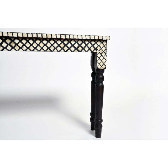 2010s Bone Inlay Console Table For Sale - Image 5 of 13