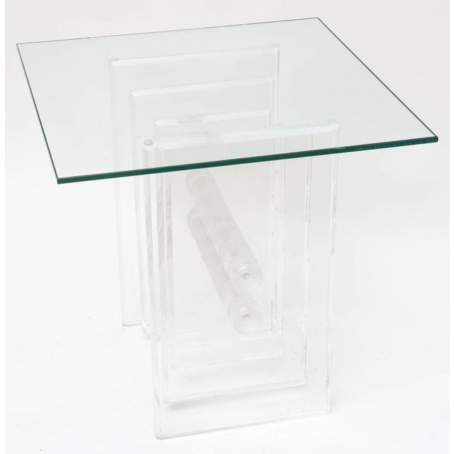 Lucite Plates Coffee Table Base For Sale In Miami - Image 6 of 9
