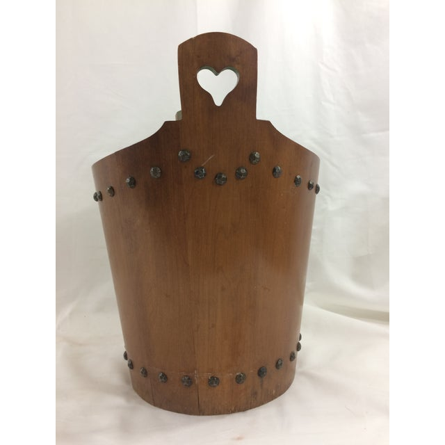 French French Mid-Century Modern Teak Trash Can For Sale - Image 3 of 6