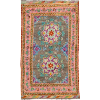 """Apadana - Modern Afghan Gabbeh Rug, 2'9"""" x 4'6"""""""