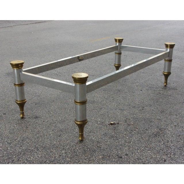 Mid-Century Aluminum & Brass Coffee Table - Image 5 of 11