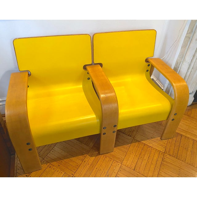 1960s Italian Modern Double Seat Bench For Sale In New York - Image 6 of 11