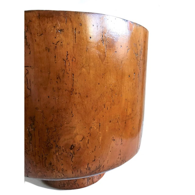 1950s Mid Century Turned Wood Footed Planter For Sale - Image 4 of 8