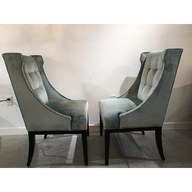 Velvet Designmaster Furniture Franklin Host Wing Chairs - a Pair For Sale In Tampa - Image 6 of 11
